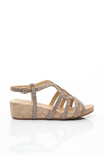 Sandales/Nu pieds jaune ALMA EN PENA pour femme