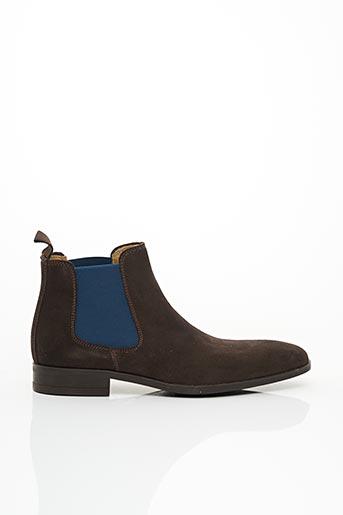 Bottines/Boots marron PACO MILAN pour homme