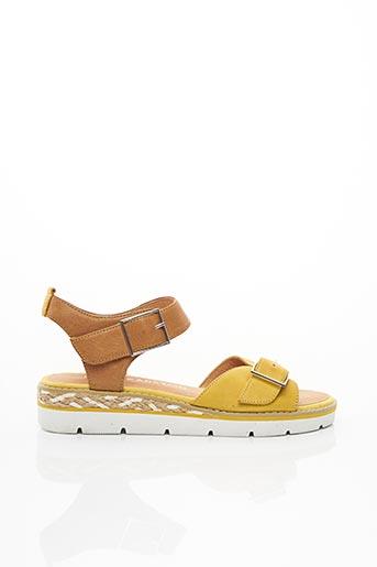 Sandales/Nu pieds jaune EMILIE KARSTON pour femme