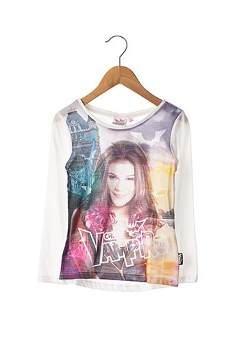 T-shirt manches longues blanc CHICA VAMPIRO pour fille