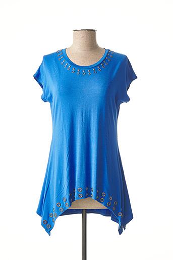 Tunique manches courtes bleu MARBLE pour femme