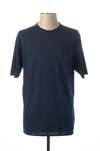 Pull col rond bleu PRIVATI FIRENZE pour homme