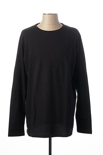 T-shirt manches longues noir LE T-SHIRT PROPRE pour homme