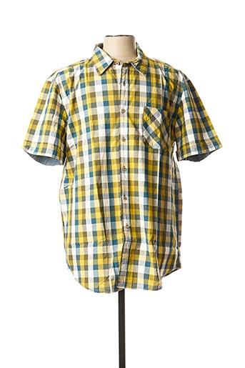Chemise manches courtes jaune MCS pour homme