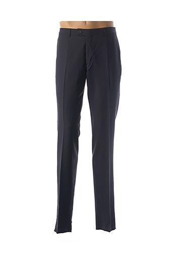 Pantalon chic bleu BRUNO SAINT HILAIRE pour homme