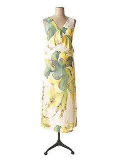 Robe mi-longue beige CARLA MONTANARINI pour femme