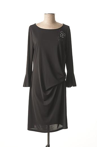 Robe mi-longue noir DAMA MIA pour femme