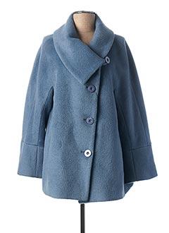 Manteau court bleu BERNI pour femme