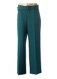 Pantalon chic vert CARLA MONTANARINI pour femme