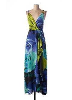 Robe mi-longue bleu CARLA MONTANARINI pour femme