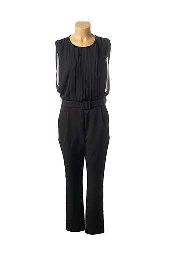 Combi-pantalon noir CARLA MONTANARINI pour femme