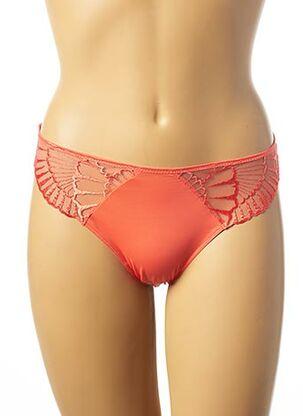 Slip/Culotte orange IMPLICITE pour femme