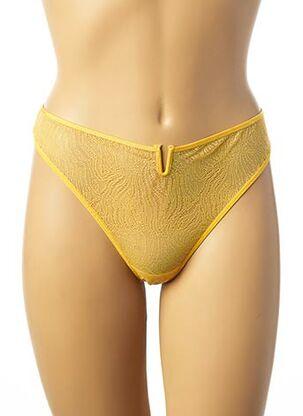String/Tanga jaune IMPLICITE pour femme