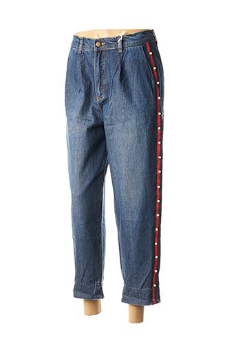 Jeans boyfriend bleu BSB pour femme