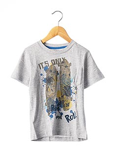 T-shirt manches courtes gris BOBOLI pour garçon