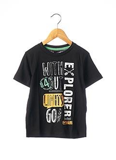 T-shirt manches courtes noir BOBOLI pour garçon