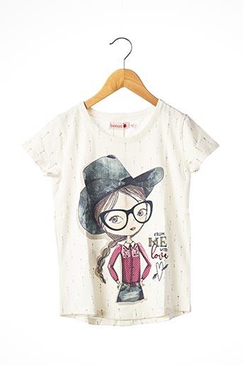 T-shirt manches courtes beige BOBOLI pour fille