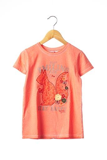 T-shirt manches courtes orange BOBOLI pour fille
