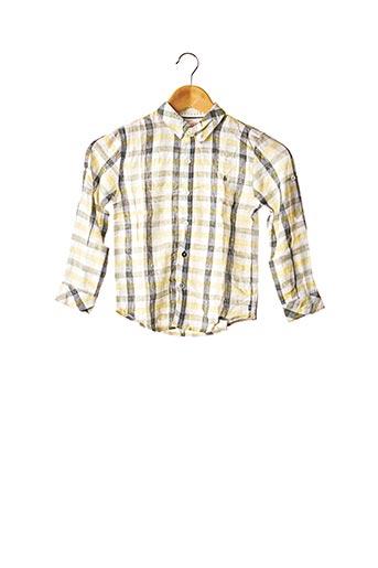 Chemise manches longues jaune BOBOLI pour garçon