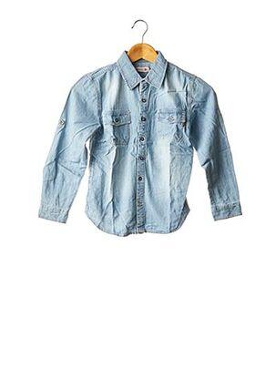 Chemise manches longues bleu BOBOLI pour garçon