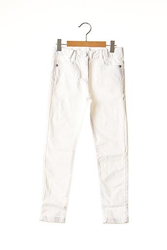 Jeans coupe slim blanc BOBOLI pour fille