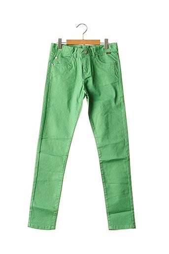 Jeans coupe slim vert BOBOLI pour fille