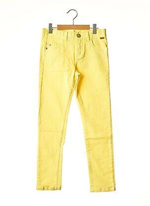 Jeans coupe slim jaune BOBOLI pour garçon