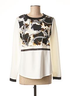 T-shirt manches longues blanc BLEU BLANC ROUGE pour femme