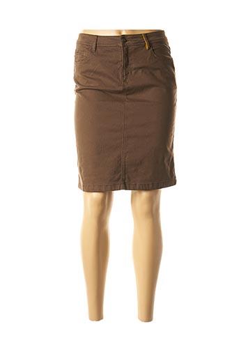 Jupe mi-longue marron COUTURIST pour femme