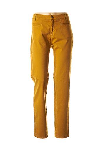 Pantalon casual jaune COUTURIST pour femme