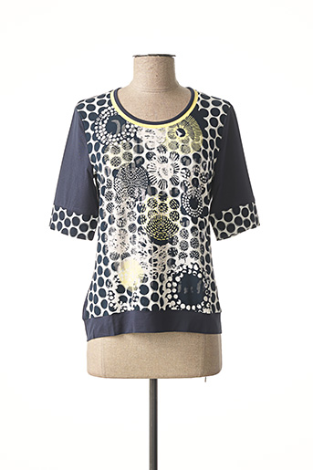 T-shirt manches longues bleu FRANK WALDER pour femme