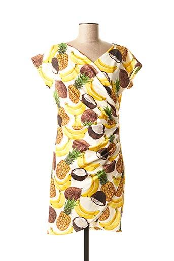 Robe courte jaune DANIELA COOL pour femme