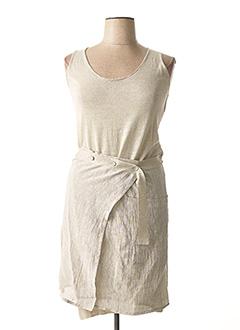 Robe mi-longue beige CREA CONCEPT pour femme