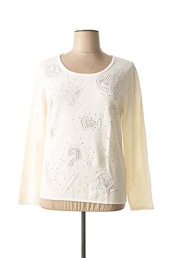 Pull col rond blanc ANAKE pour femme