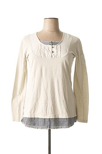 T-shirt manches longues beige MAE MAHE pour femme