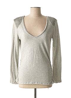 T-shirt manches longues gris CARLING pour femme