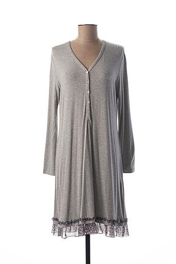 Chemise de nuit gris REBECCA & BROS pour femme