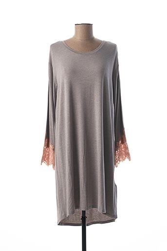 Chemise de nuit gris TWINSET pour femme
