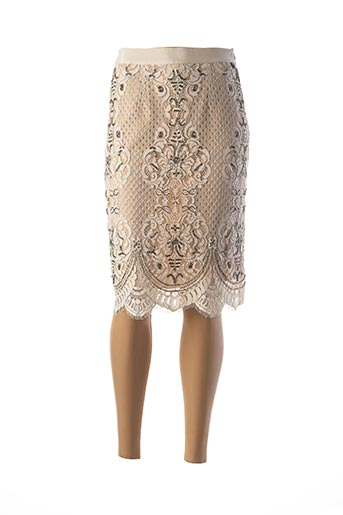 Jupe mi-longue beige TWINSET pour femme