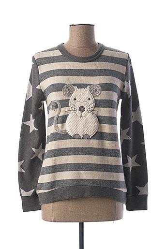 Pyjama gris PEPITA pour femme