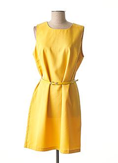 Robe mi-longue jaune MOLLY BRACKEN pour femme