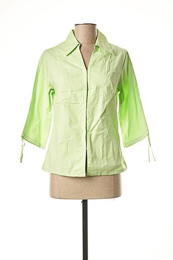 Chemisier manches longues vert JAC JAC pour femme