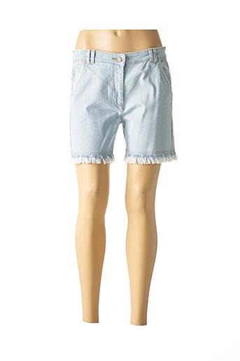 Short bleu AGATHE & LOUISE pour femme