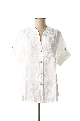 Tunique manches courtes blanc MADE IN ITALY pour femme