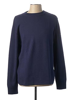 Pull col rond bleu ARMOR LUX pour homme