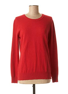 Pull col rond rouge FELINO pour femme
