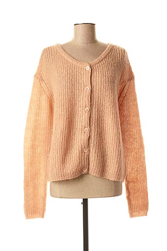 Gilet manches longues rose KANOPE pour femme