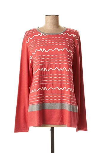 Pull col rond rose I.ODENA pour femme