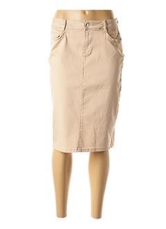 Jupe mi-longue beige DIANE LAURY pour femme