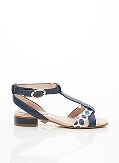 Sandales/Nu pieds bleu EMILIE KARSTON pour femme